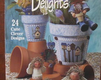 """Decorative """" Garden Delights""""  by Linda Jordan used book 24 pages  Suzanne McNeill 1997 DIY"""
