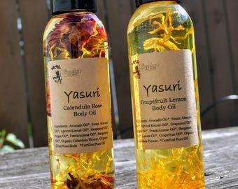 Body Oil. Bath Oil. In-Shower Oil. Massage Oil. Rose Body Oil. Calendula Oil. Lavender Body Oil.