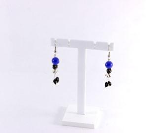 Fancy blue fairy earrings