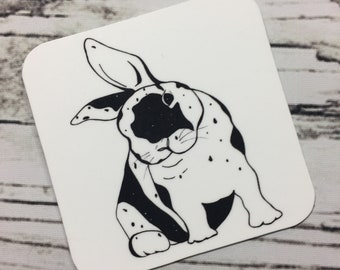 "Funny Bunny - Peter Rabbit Inspired Ink Drawing - 2.5"" Refrigerator Magnet"