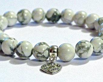 Howlite Calming Crystal Healing Gemstone Bracelet Amelie Hope Crystals Power Bead