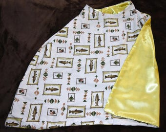 Flannel Fish Yellow Reversible Cape