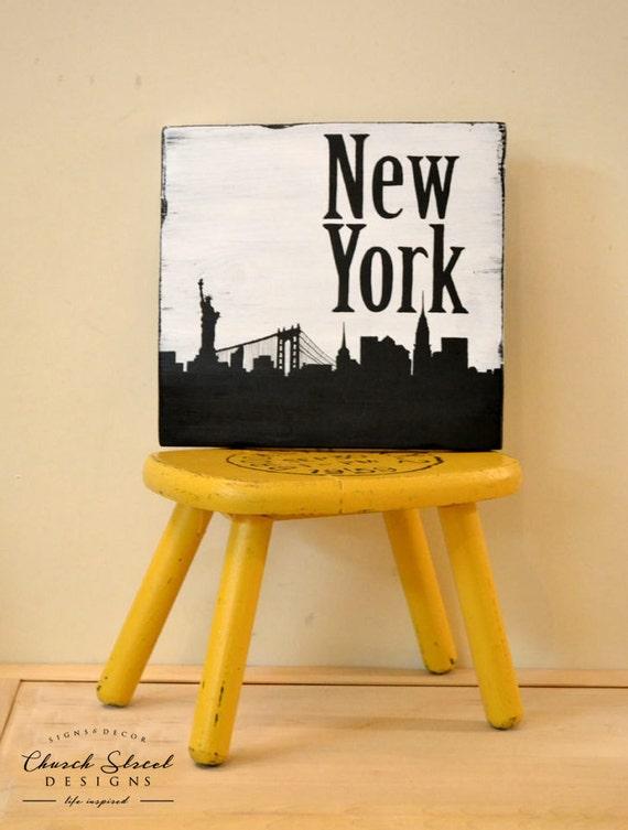 New York City Decor City Skyline Art Silhouette Art