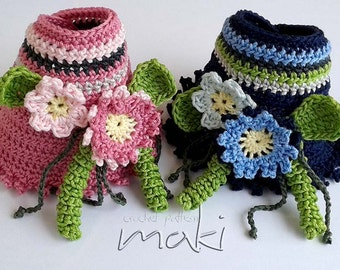 Crochet bracelet pattern - Summer flower bracelet crochet pattern. Permission to sell finished items. Pattern No. 140