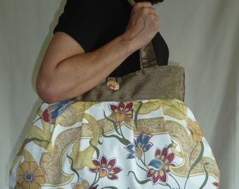 Reversible bag ethnic printed Daisy