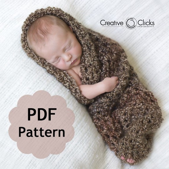 Baby Cocoon For Newborn Photography Pdf Pattern For Crochet