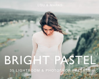 Bright Pastel Presets for Lightroom & Photoshop, Presets, ACRs for Bright Portrait and Modern Wedding Edits in Adobe Lightroom Photoshop