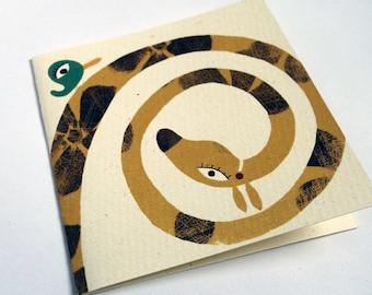 Card spiral giraffe C023