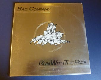 On Sale! Bad Company Run With The Pack Vinyl Record LP SS 8415 Swan Song Records 1976