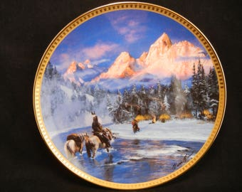 Home From The Hunt Collectors Plate / By HERMON ADAMS Franklin Mint Heirloom