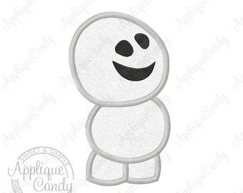Frozen Little Snowman Applique Machine Embroidery Design 4x4 5x7 6x10 Fever INSTANT DOWNLOAD