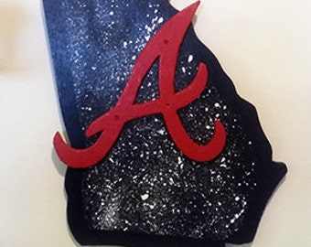 Atlanta Braves 3D Wooden Hand-crafted Wall Art