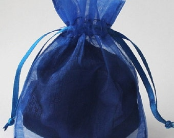 Wedding Favors Table Decorations ROYAL Sapphire Blue 3x4 Organza Bags 100