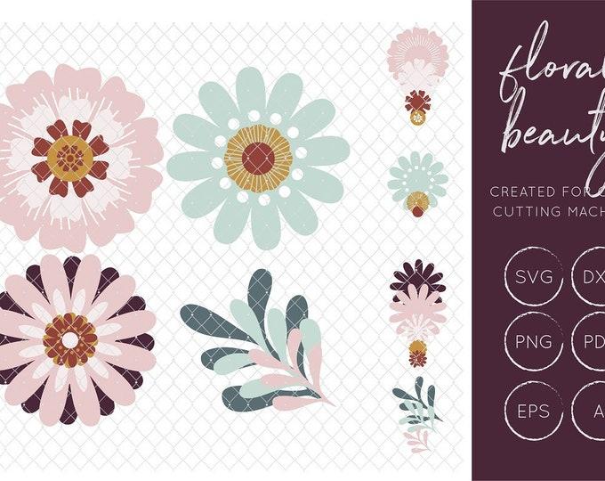 Floral SVG Cut File - FCM Cut File