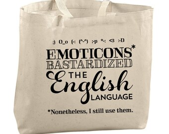 Texting Queen Tote Bags for Teachers Gifts for Editors Picks Gifts for Sister Gifts for Mom Gifts for Friends Gifts Totes Emoticon Tote Bag
