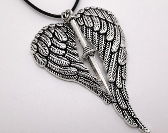Supernatural Angel Blade and Wings Necklace