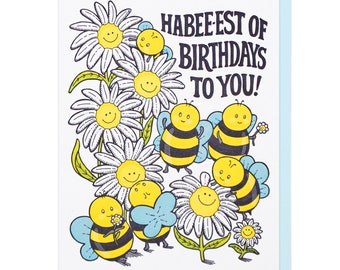 Habee-est of Birthdays Letterpress Card