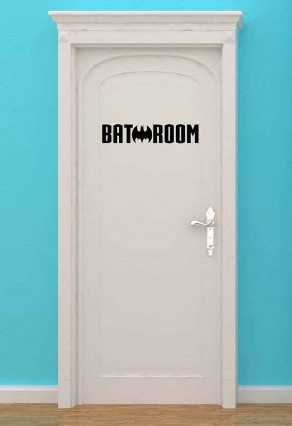 Superieur Bat, Batman, Bat Making H, Bathroom Sign, Restroom Sign, Bathroom Door  Sign, Restroom Decal, Wall Art, Superhero, Vinyl Sticker, Wall Art