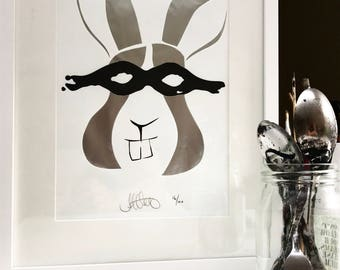 LADY MAGDALEINE (the Bunny) - Limited Edition print (100 in total)
