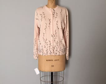 flower branches cardigan | 90s angel pink cardi