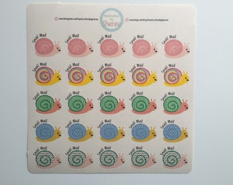 Snail Mail Snail Planner, Penpal and Journalling Stickers HBS0004