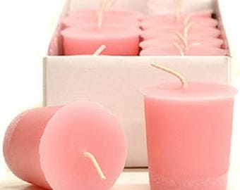 15 Hour Sandalwood Rose Scented Soy Votive Candles Pick A Pack