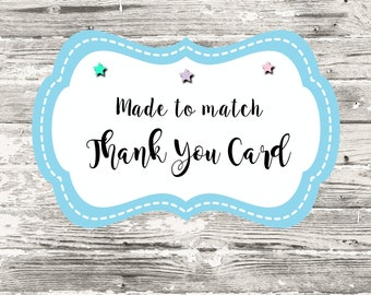 Made To Match Thank You Card Digital Printable