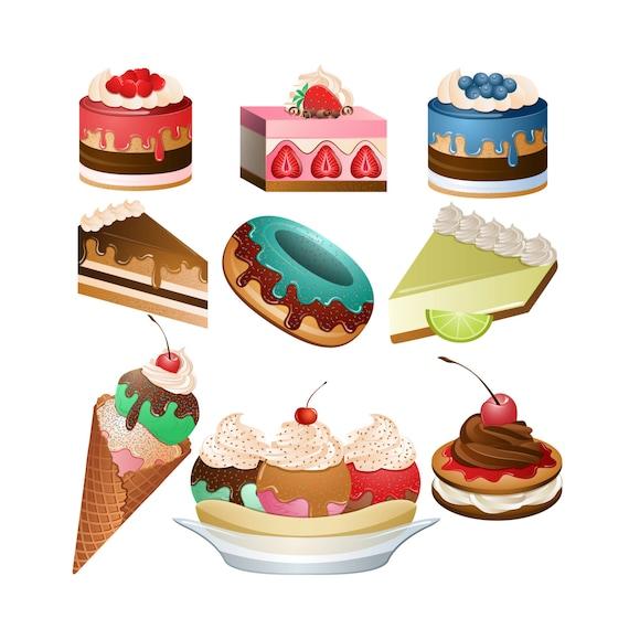 desserts clipart set of 9 png jpg and vector desserts from rh etsystudio com dessert clip art pictures desert clip art images