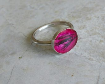 Sterling silver pet memorial ring