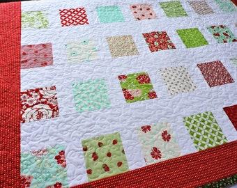 Handmade quilt for sale, floral quilt, patchwork quilt