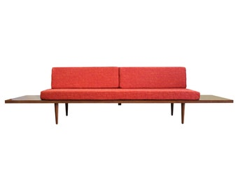 """Mid Century Modern Daybed with floating side tables (""""Horizon Daybed"""")"""