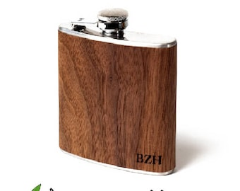 Personalized wood flask, Groomsmen gift, hipster, unique gifts, husband, boyfriend, groom father