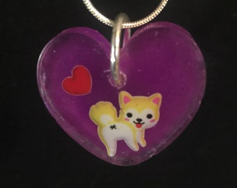 Ultra kawaii glow-in-dark Puppy dog butthole kisses necklace