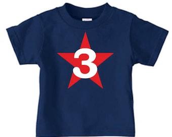Personalized birthday shirt, toddler birthday shirt, number shirts, birthday star shirt