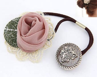 Lace Rose Elastic Hair Tie