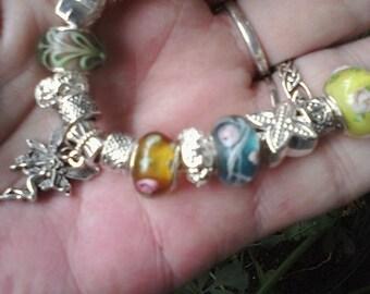 Fairy flower fest, Euro style bracelet