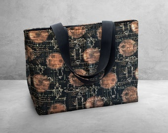 Wine Measurments - Susan Winget Carry Bag / Tote Bag / Market Bag / Book Bag / Carry All -