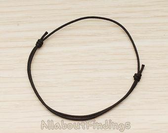 BSC281-B // Black Adjustable Strap Bracelet, 1 Pc