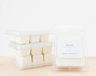 BONFIRE Scented Soy Wax Melts | Scented Soy Tarts, Soy Candle Melt, Scented Wax Cubes