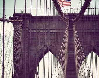 New York picture, New York City artwork, NYC print, Brooklyn Bridge, New York photography, black and white - Brooklyn Beauty