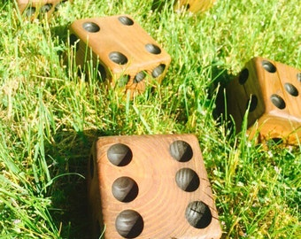 Yardzee - Yard Yahtzee Dice - Spring - Summer Games - Gifts Under 50 - Gift for Her - Gift for Him - Giant Dice - Handmade