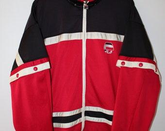 Fila Tracktop Sweatshirt Vintage 90s Sportswear Size Usa M/L