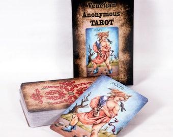 Venetian Anonymous Tarot deck cards, Sola Busca Tarot inspired MAXI SIZE TAROT