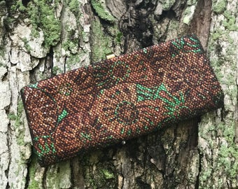 copper and green clutch