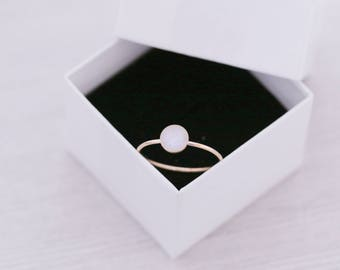 Gold Tone Cremation Ring - Gold Filled Round Stacking Ring - Cremation Jewelry - Ash Ring - Ash Jewelry - Urn Ring - Urn Jewelry - Pet Loss