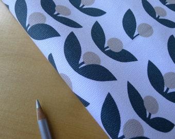 Glimma CANVAS Tove Slate Lotta Jansdotter for Windham - Half Yard - Home Decor Weight Cotton Fabric