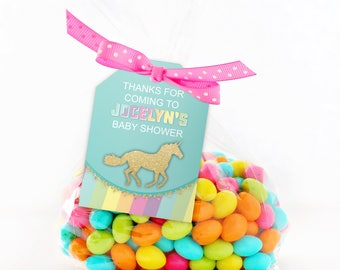 Unicorn favor tags, die cut favor tags, Unicorn Hang tags, baby shower tags, goody bag tag, candy tag, unicorn baby shower decor
