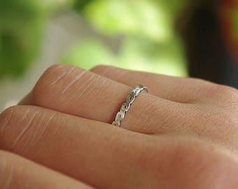 Handmade sterling silver ring.