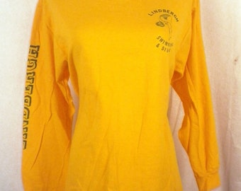 vtg 80s soft thin Lindbergh High School Swimming & Diving T-Shirt long sleeve M