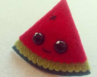 Kawaii Watermelon Pin Brooch, Fridge Magnets, Refrigerator, Kitchen Magnets, Fruits, Fruit magnets, Felt Fruit, Summer